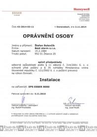 Osobitné oprávnenie EPS ESSER 8000