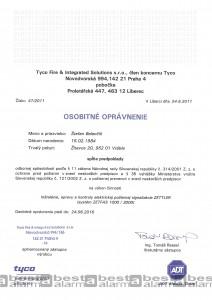 Osobitné oprávnenie EPS ZETTLER Zetfas 1000/3000